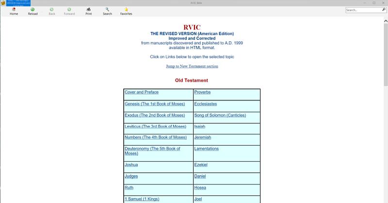 RVIC Bible